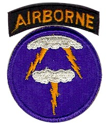 Coat of arms (crest) of the 21st Airborne Division (Phantom Unit), US Army