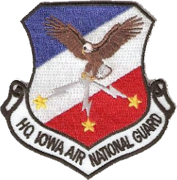Coat of arms (crest) of the Iowa Air National Guard, US