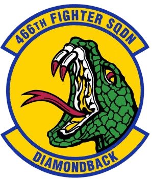 Coat of arms (crest) of the 466th Fighter Squadron, US Air Force