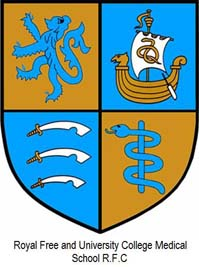 Arms of Royal Free, University College and Middlesex Medical Students RFC