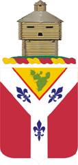 Coat of arms (crest) of the 122nd Field Artillery Regiment, Illinois Army National Guard