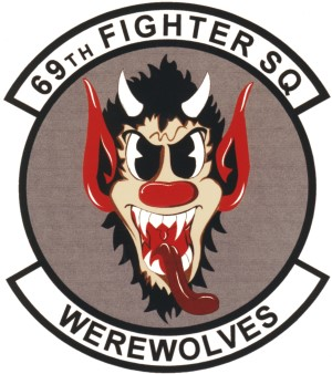 Coat of arms (crest) of the 69th Tactical Fighter Squadron, US Air Force