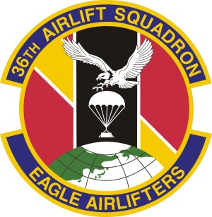 Coat of arms (crest) of the 36th Airlift Squadron, US Air Force