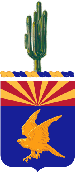 Coat of arms (crest) of the 285th Aviation Regiment, Arizona Army National Guard