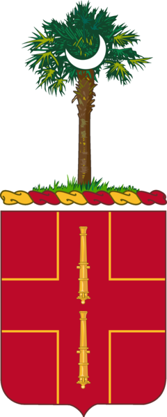 Coat of arms (crest) of the 263rd Air Defense Artillery Regiment, South Carolina Army National Guard