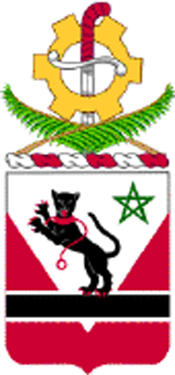 Coat of arms (crest) of the 16th Engineer Battalion, US Army