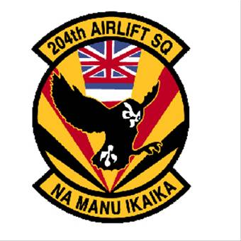 Coat of arms (crest) of the 204th Airlift Squadron, Hawaii Air National Guard