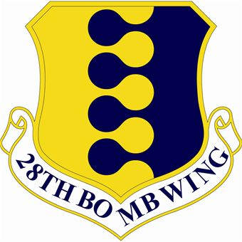 Coat of arms (crest) of the 28th Bombardment Wing, US Air Force