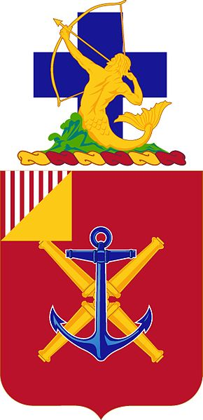 Coat of arms (crest) of the 10th Coast Artillery Regiment, US Army