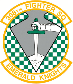 Coat of arms (crest) of the 308th Fighter Squadron, US Air Force
