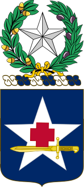 Coat of arms (crest) of the 111th Medical Battalion, Texas Army National Guard