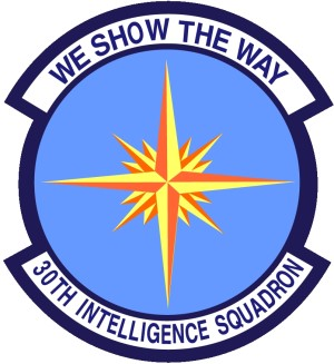 Coat of arms (crest) of the 30th Intelligence Squadron, US Air Force
