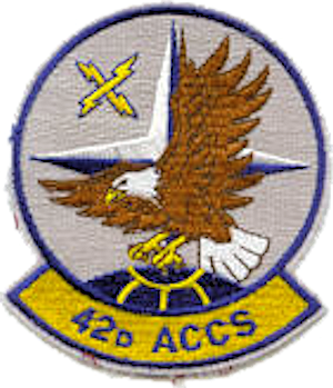 Coat of arms (crest) of the 42nd Airborne Command and Control Squadron, US Air Force
