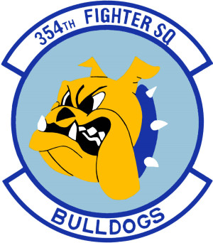 Coat of arms (crest) of the 354th Fighter Squadron, US Air Force