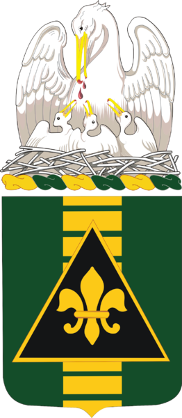 Coat of arms (crest) of the 156th Armor Regiment, Louisiana Army National Guard