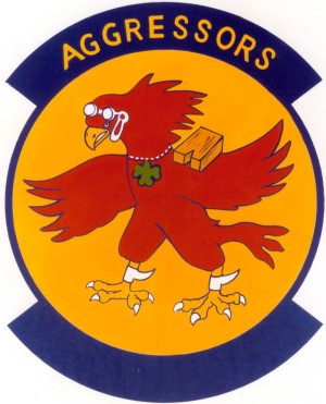 Coat of arms (crest) of the 65th Agressor Squadron, US Air Force