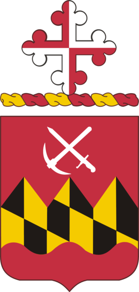 Arms of 121st Engineer Battalion, Maryland Army National Guard