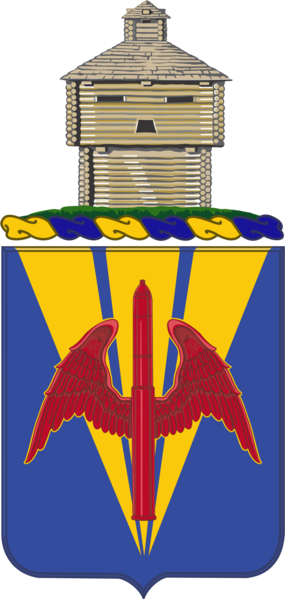 Coat of arms (crest) of the 202nd Air Defense Artillery Regiment, Illinois Army National Guard