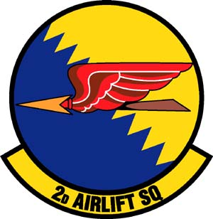 Coat of arms (crest) of the 2nd Airlift Squadron, US Air Force