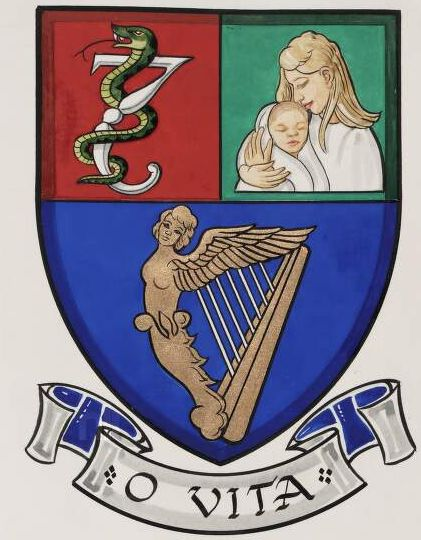 Arms of Royal College of Physicians of Ireland - Institute of Obstetricians and Gynaecologists