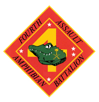 Coat of arms (crest) of the 4th Assault Amphibian Battalion, USMC
