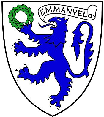 Arms (crest) of Emmanuel College (Cambridge University)