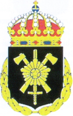 Coat of arms (crest) of the Engineer School, Swedish Army