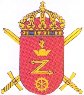 Coat of arms (crest) of the Radar and Mechanics School, Swedish Army