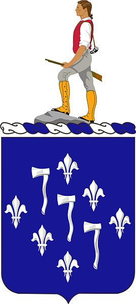 Coat of arms (crest) of the 333rd (Infantry) Regiment, US Army