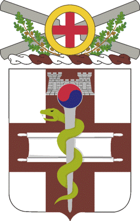 Coat of arms (crest) of the 421st Medical Battalion, US Army