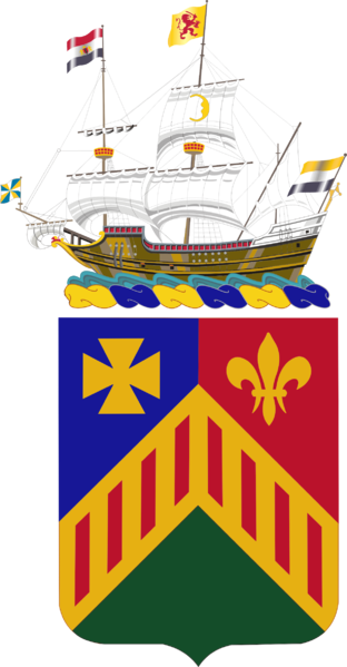 Coat of arms (crest) of the 124th Armor Regiment, New York Army National Guard