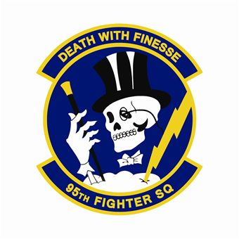 Coat of arms (crest) of the 95th Fighter Squadron, US Air Force