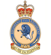 Coat of arms (crest) of the 735 Signal Squadron, Canada