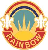 Arms of 42nd Infantry Division Rainbow Division, USA
