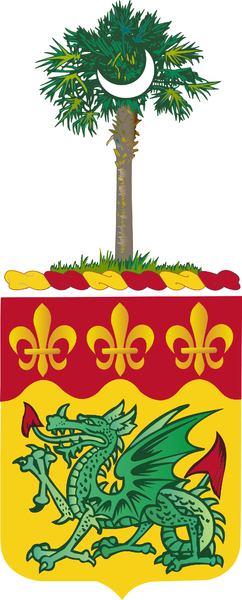 Coat of arms (crest) of the 263rd Armor Regiment, South Carolina Army National Guard