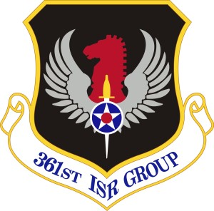 Coat of arms (crest) of the 361st Intelligence, Surveillance & Reconnaissance Group, US Air Force