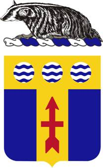 Coat of arms (crest) of the 128th Infantry Regiment, Wisconsin Army National Guard