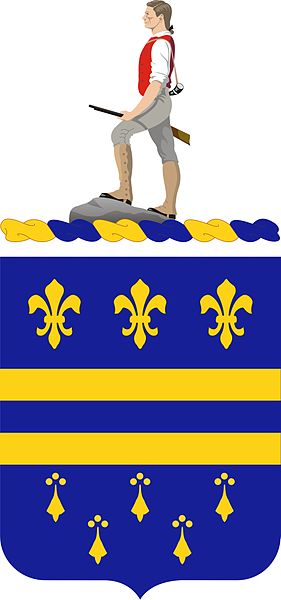 Coat of arms (crest) of the 335th (Infantry) Regiment, US Army