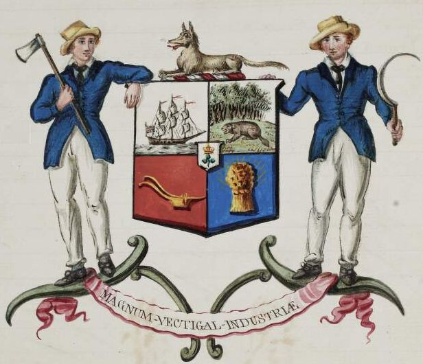 Arms of North American Colonial Association of Ireland