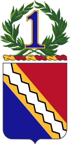 Coat of arms (crest) of the 1st Infantry Regiment, US Army