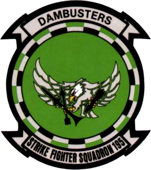 Coat of arms (crest) of the VFA-195 Dambusters, US Navy