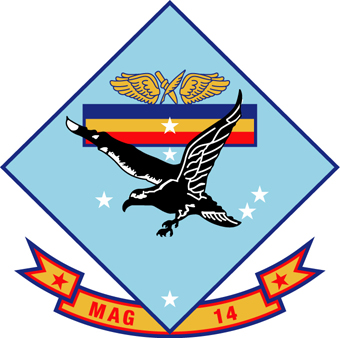 Coat of arms (crest) of the Marine Aircraft Group 14, USMC
