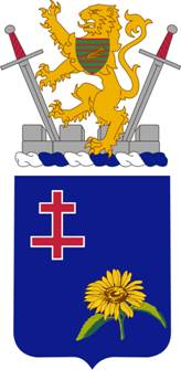 Arms of 353rd (Infantry) Regiment, US Army