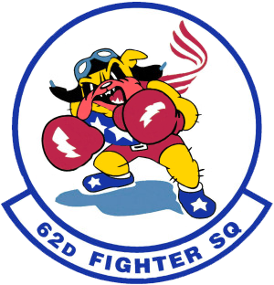 Coat of arms (crest) of the 62nd Fighter Squadron, US Air Force
