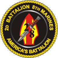Coat of arms (crest) of the 2nd Battalion, 8th Marines, USMC