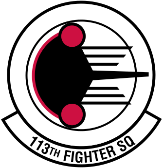 Coat of arms (crest) of the 113th Fighter Squadron, Indiana Air National Guard
