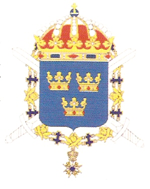 Arms of 1st Infantry Regiment Svea Life Guards, Swedish Army