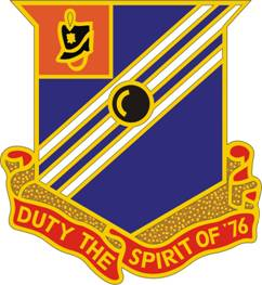 Arms of 76th Field Artillery Regiment, US Army