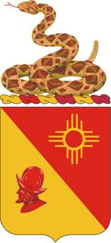 Coat of arms (crest) of the 202nd Field Artillery Regiment, New Mexico Army National Guard