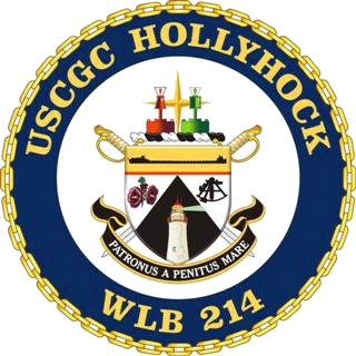 Coat of arms (crest) of the USCGC Hollyhock (WLB-214)